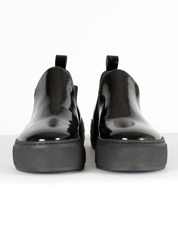 Selected Femme Vigga Patent Platform Black
