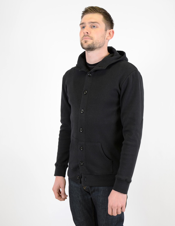 Men's Still Life Sidney Button Hoody Black