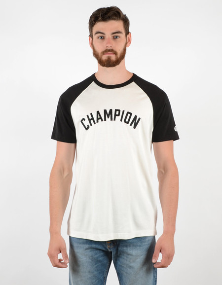 Men's Todd Snyder x Champion Short Sleeve Plated Raglan Vintage White