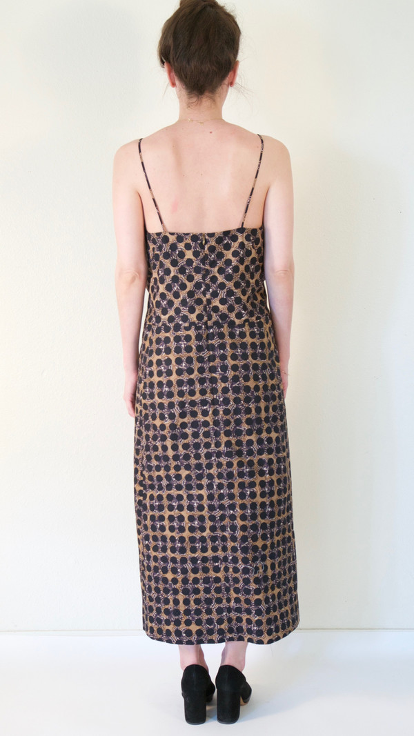 A Détacher Dora Dress in Black Floral Dot Print