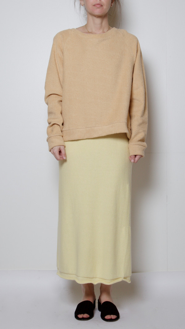 Baserange Orleans Skirt in Egg Yellow
