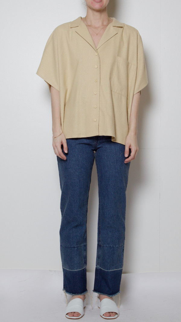 Baserange Sevinc Sleeveless Shirt in Sand