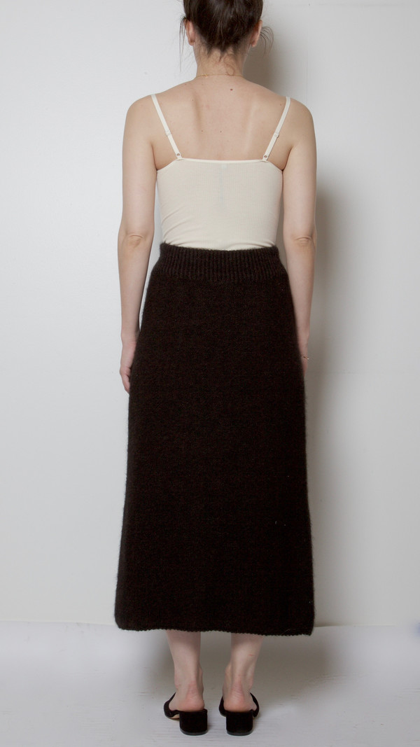 Baserange Sylvie Knit Skirt in Black