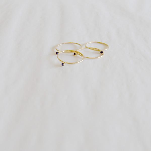 Blanca Monrós Gómez Tiny Sapphire Solitaire Ring