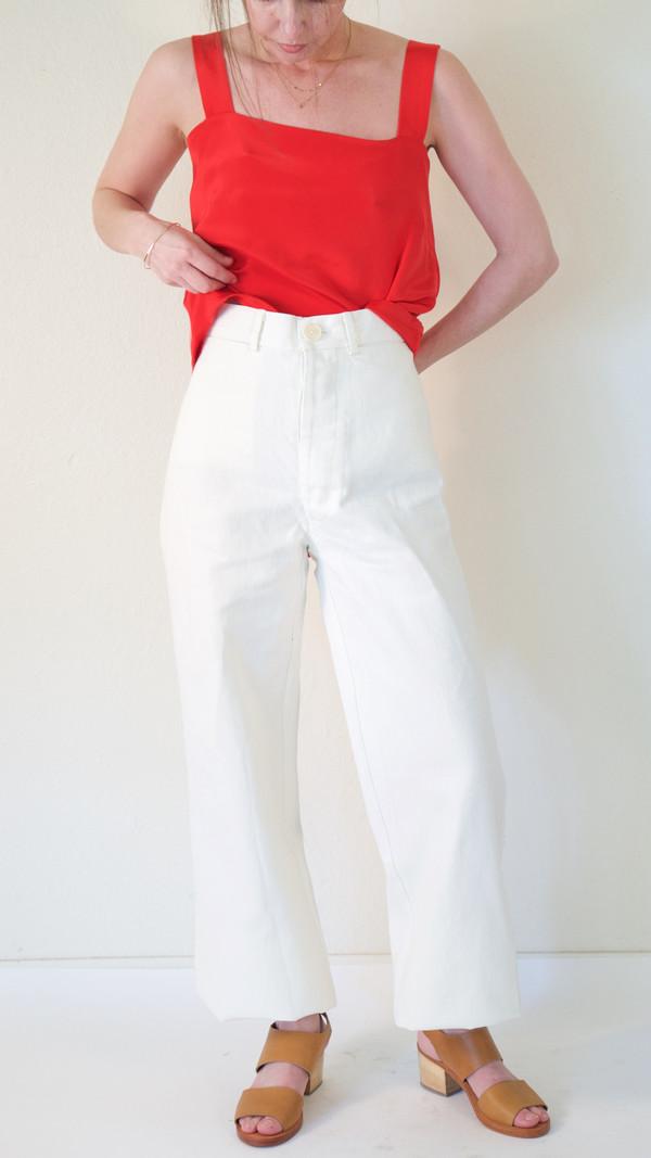 Caron Callahan Stewart Pant in White Denim