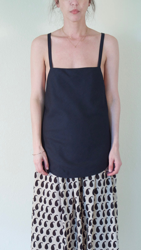 Suzanne Rae Cross Back Tank in Black