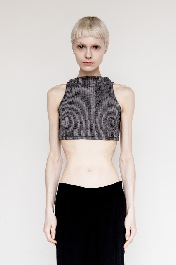 David Michael Cotton Helix Crop Top
