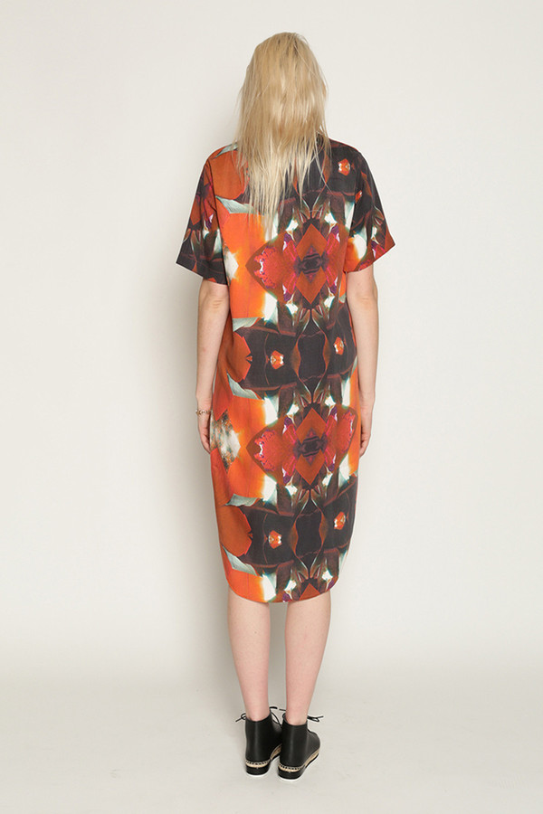 H. Fredriksson Vero Dress in Red Leaves