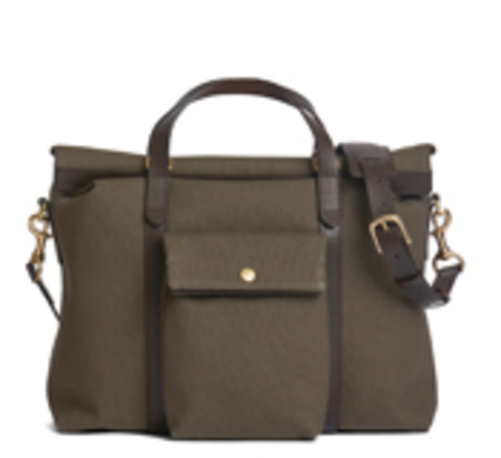 Army Green and Dark Brown MS Soft Work Bag by Mismo