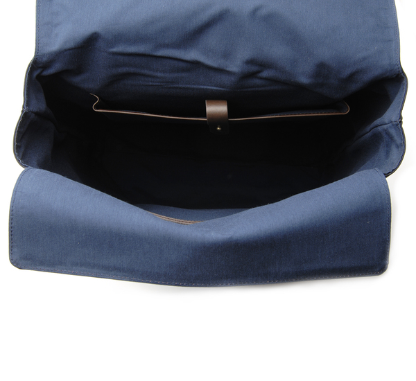 Navy and Dark Brown MS Backpack by Mismo