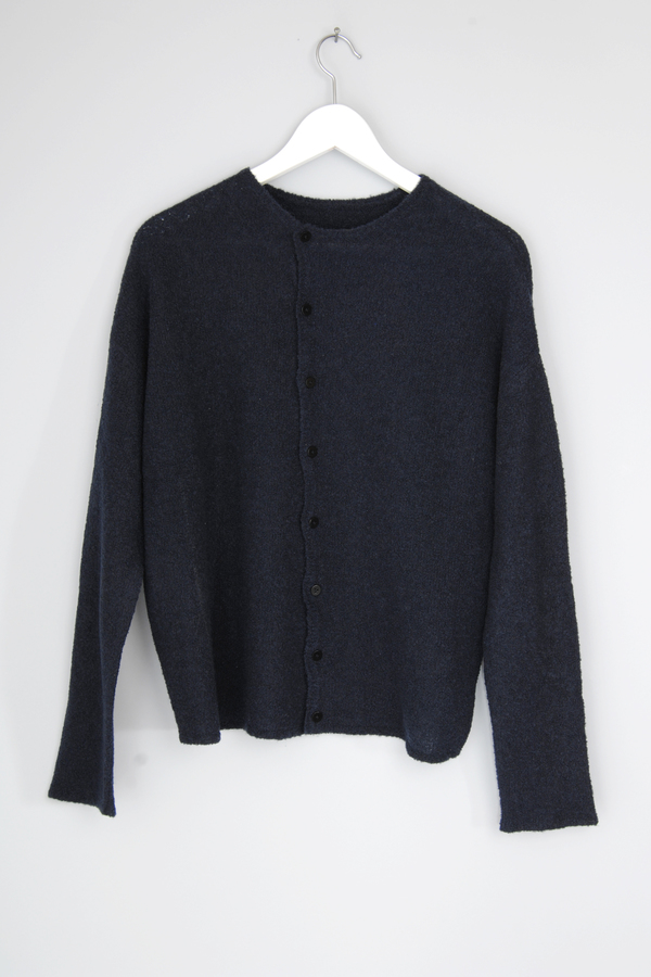 Oyuna Navy Boucle Cardigan With