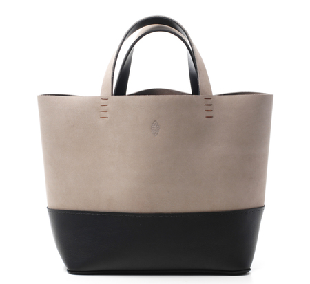 Taupe and Black Basket Bag Duo by Petite Maison Christiane