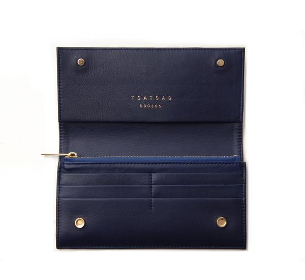 Black Cream 10 Wallet by Tsatsas