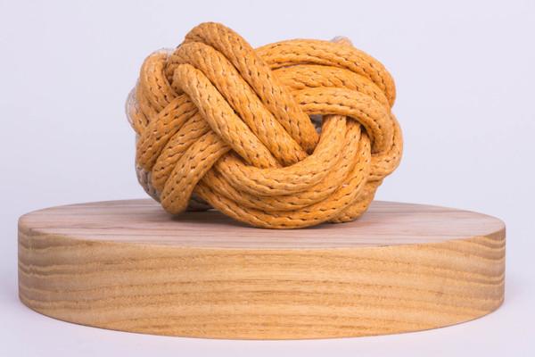 Tanya Aguiñiga - Knotted Rope Bracelet - Orange