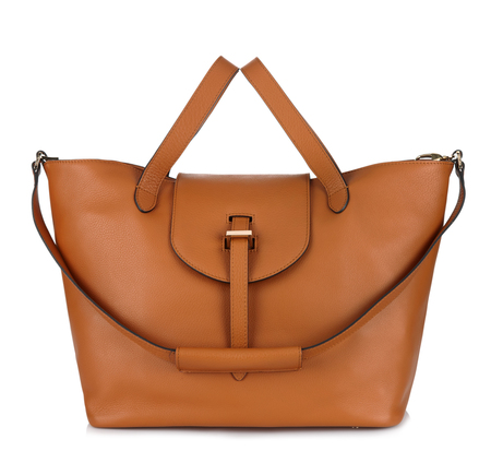 Tan Thela Bag and Clutch by Meli Melo