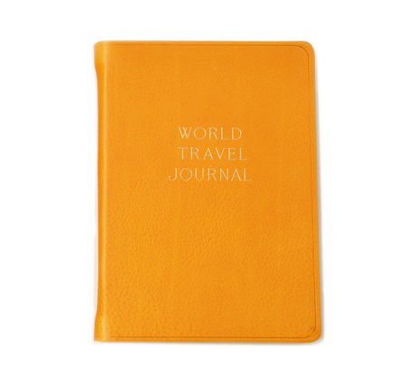 Hayden Leather Yellow World Travel Journal