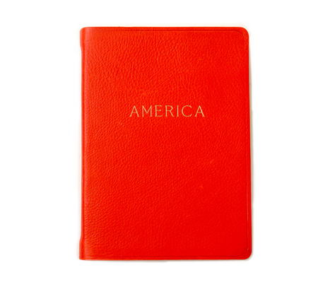 Hayden Leather Red America Atlas Book