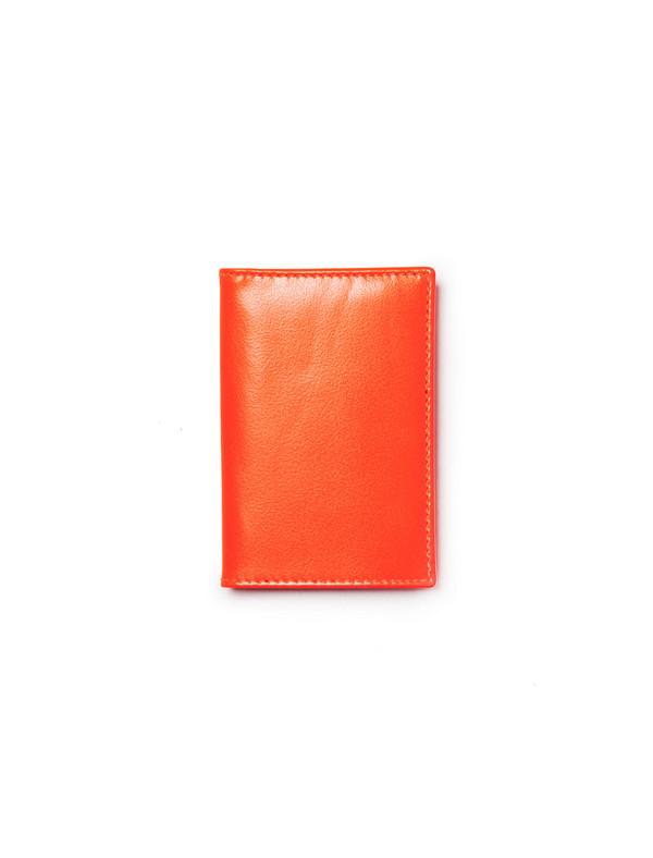 Comme des Garcons Super Fluo Card Wallet - Orange