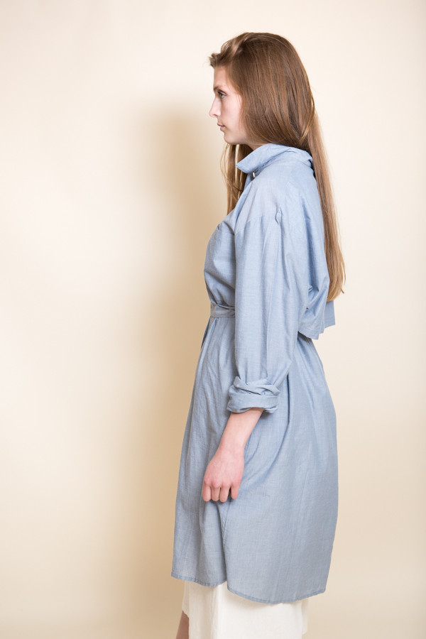 Kowtow Day After Day Dress / Blue Chambray