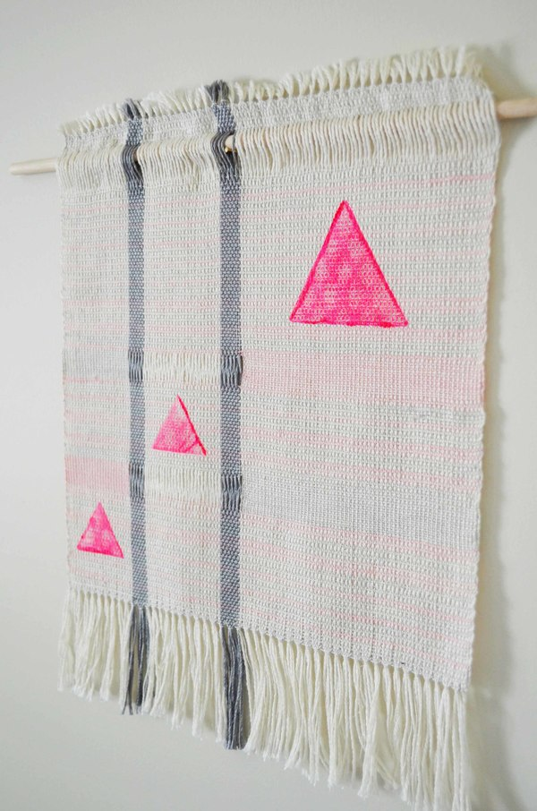 Ana Isabel Textiles Neon Pink Triangles