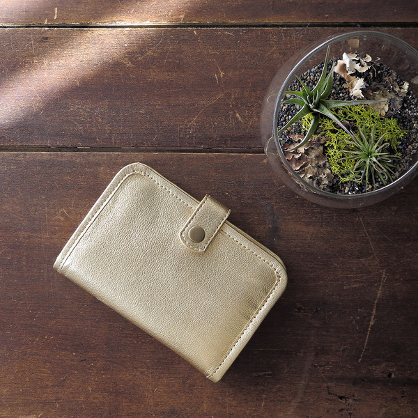 Erica Tanov Metallic Leather Wallet