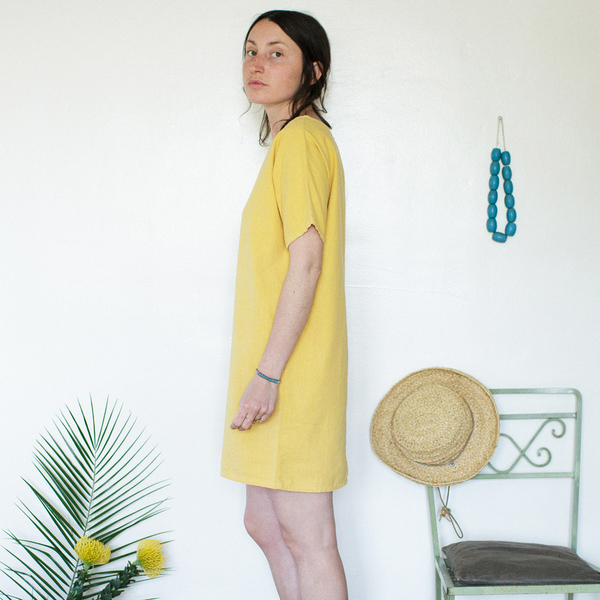 Me & Arrow  Sleeve Dress Sunflower