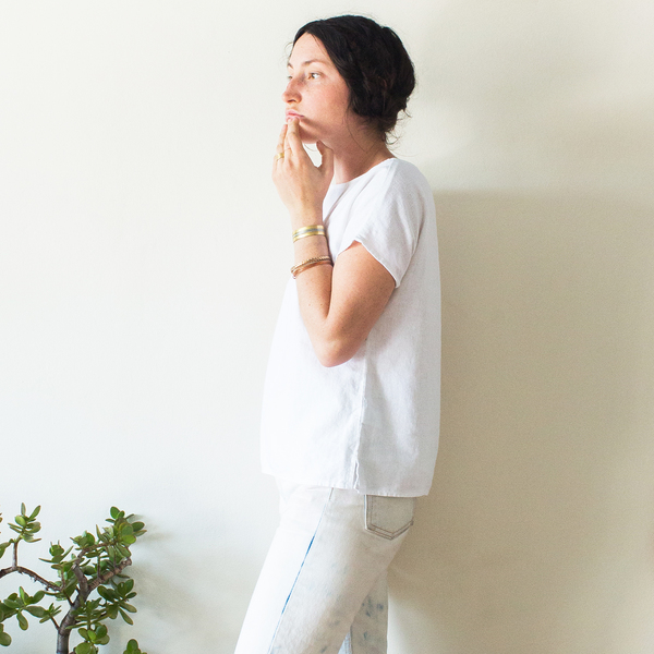 Unknown Basic Tee <br>White
