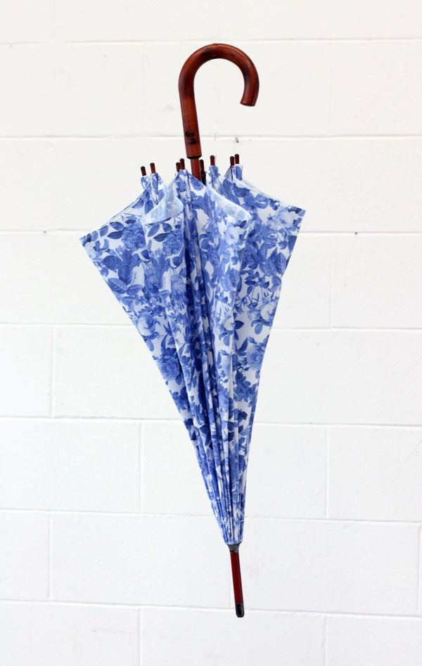Strathcona Blue China Rose Handmade Umbrella