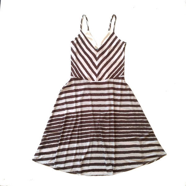 Cherry Bobin Stripes Dress Mole