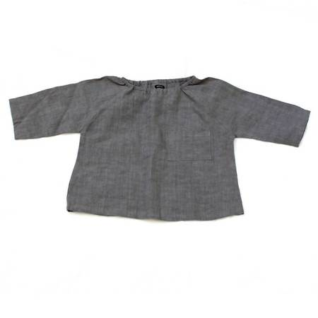 Marais Shirt in Gray Linen