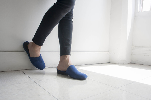 Intentionally Blank  TOUCH in BLUE SUEDE