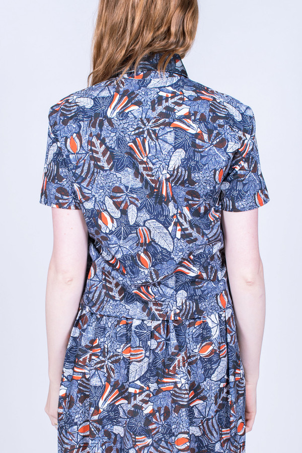 Maison Kitsune Judy Hibiscus Short Sleeve Shirt