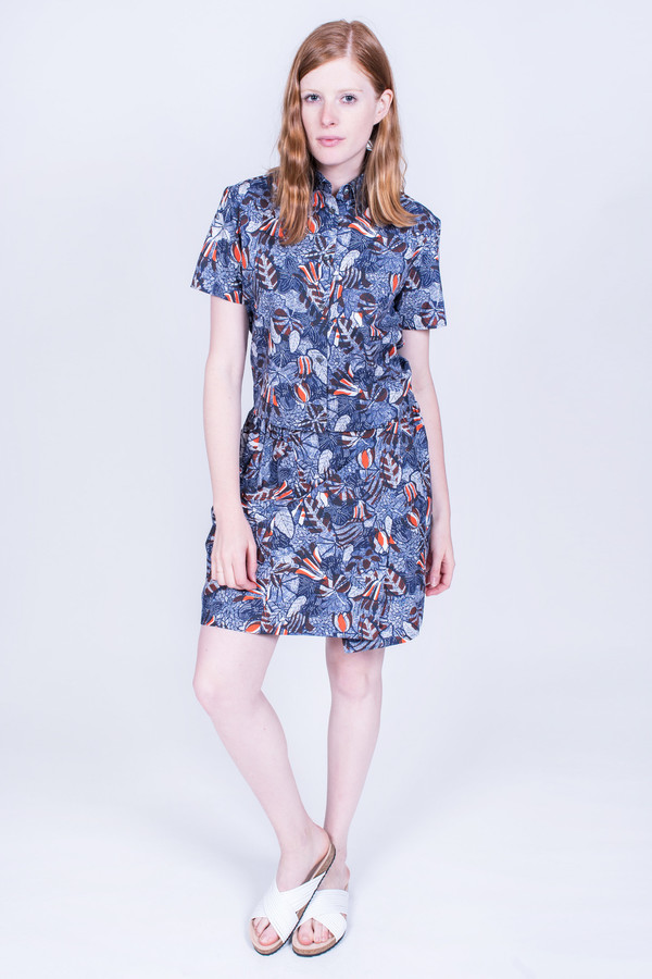Maison Kitsune Lili Hibiscus Wrap Around Skirt