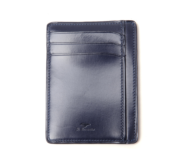 Il Bussetto Navy Card Case Wallet