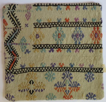 Kilim 16x16 Turkish pillow case 19