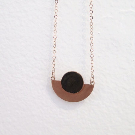 Swim To The Moon Mini Sarakiniko Necklace- Rose Gold