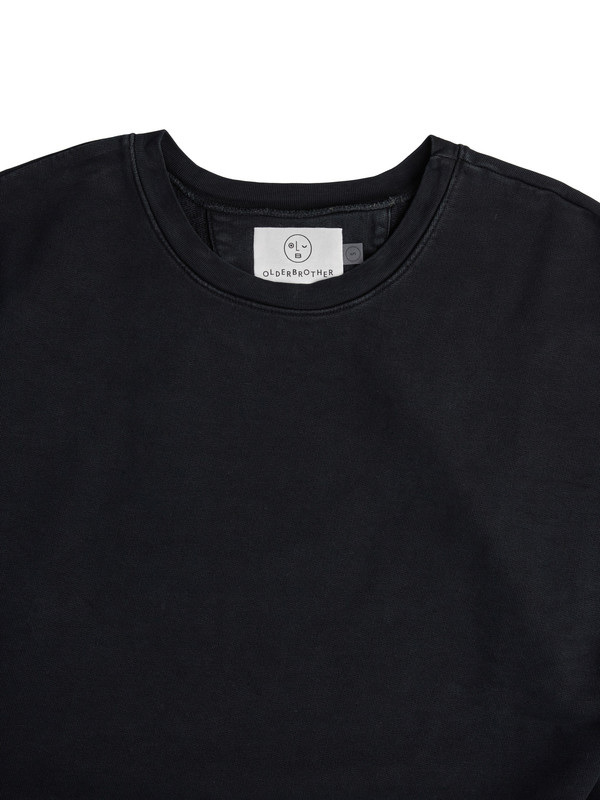 Olderbrother Drop Shoulder Crew - Black Indigo