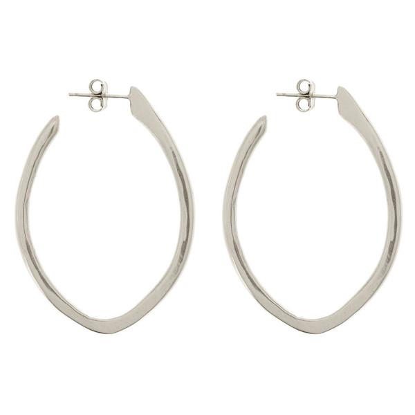 Tiffany Kunz Silver Medium Arc Earrings