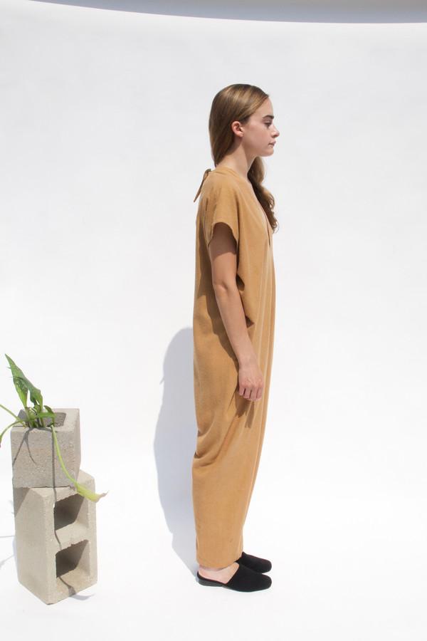 Miranda Bennett Everyday Jumpsuit, Silk Noil in Camel