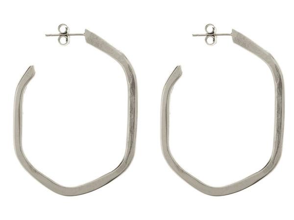 Tiffany Kunz Silver Medium Honeycomb Earrings