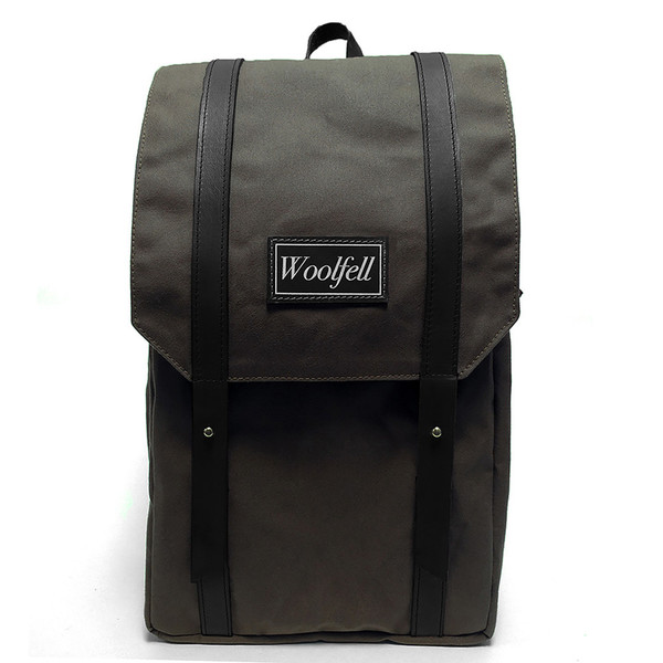 Woolfell Warrior Backpack Olive and Brown