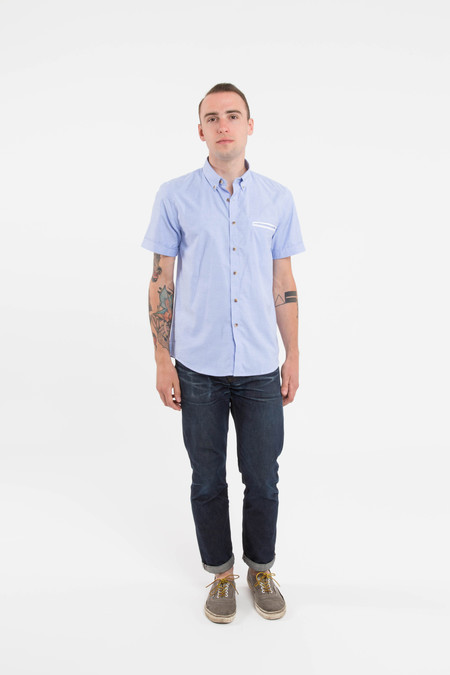 Men's General Assemby Contrast Dime Pocket Shirt in Chambray