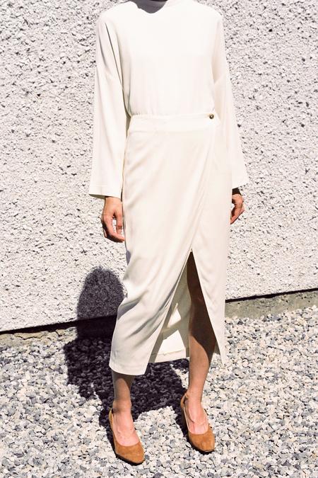 Ganni White Tailor Skirt - Vanilla Ice