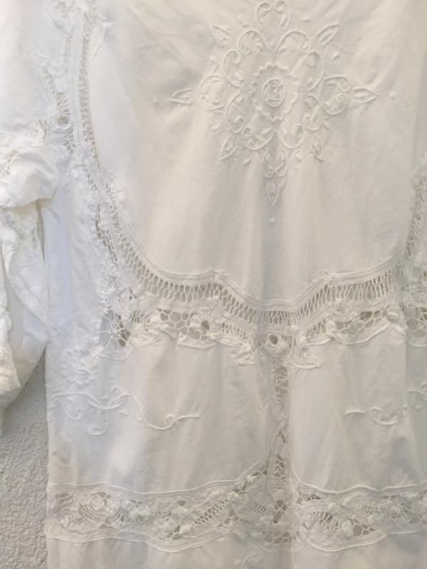 Place Nationale Sleeved Kaftan Lace Mini Dress