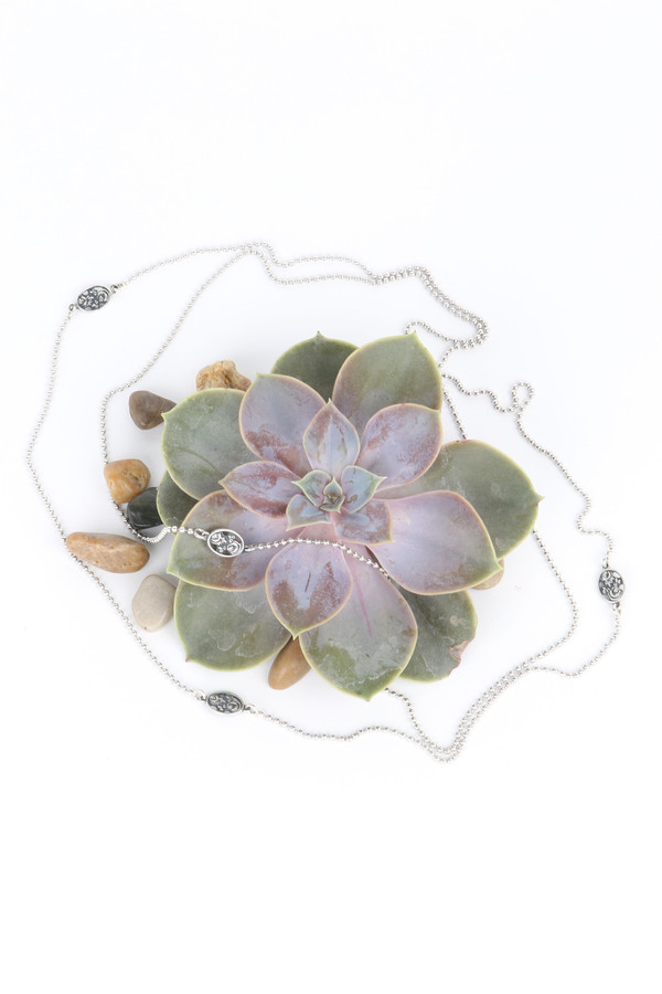 Oliver Kelly Wrap Necklace Rose