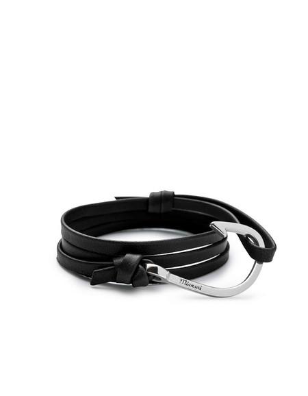 Miansai Hook on Leather Bracelet - Black