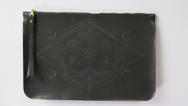 Animal Handmade Fear no Future Clutch - Black
