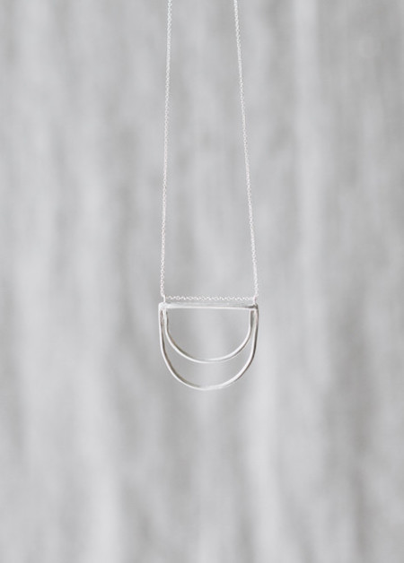Another Feather - Silver Delos Necklace