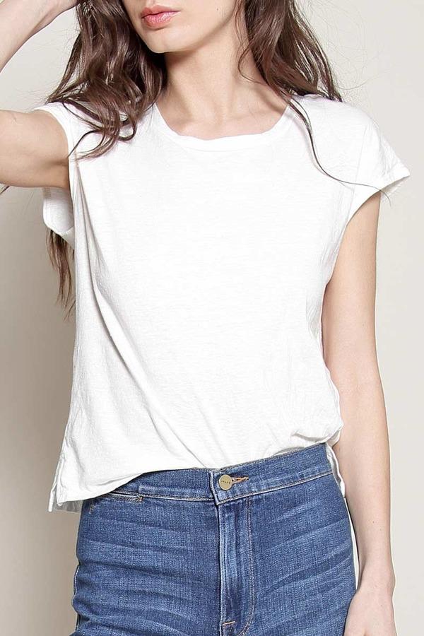 Atelier Delphine White cap-sleeve tee