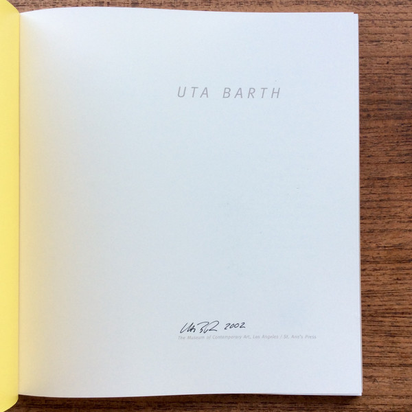 Calder Blake Uta Barth signed exhibition catalogue